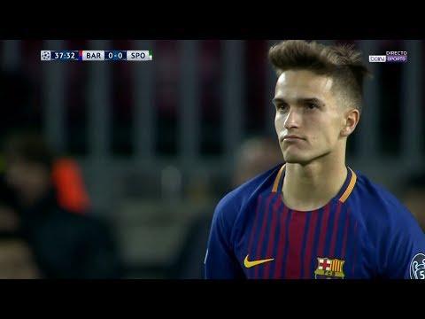 Denis Suarez vs Sporting Lisbon (Home) (UCL) 17-18 HD 1080i by Kleo Blaugrana