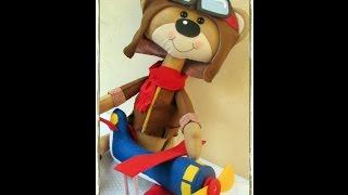 Passo a passo Urso aviador por Carmela Caramella