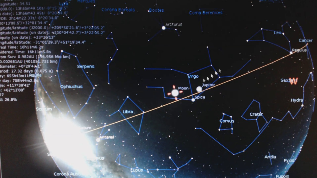 Astrology: The constellations that the Sun, Moon and Jupiter are in  today(12/23/16)
