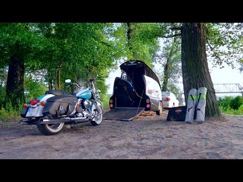 Прицеп для перевозки мотоцикла с опцией Кeмпер.  Переоборудование в дачу на колесах