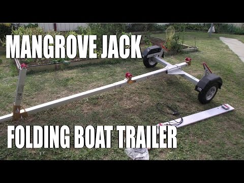 Mangrove Jack Folding Boat Trailer