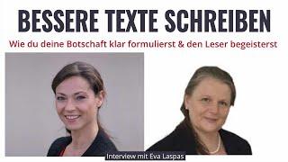 Bessere Texte schreiben für Website Angebote & Co - Interview Eva Laspas