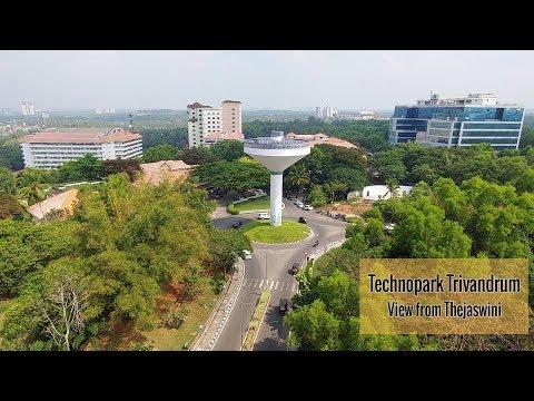 Technopark Trivandrum Campus - View From Thejaswini Building   Kerala's Largest IT Park
