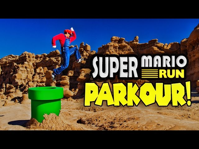 Super Mario Run Meets Parkour in Real Life! in 4K!