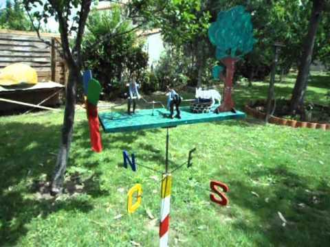 Girouette de jardin youtube - Figurine de jardin ...