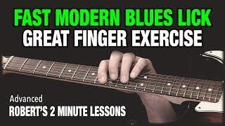 Fast Modern Blues Lick - Robert's 2 Minute Lessons (6)