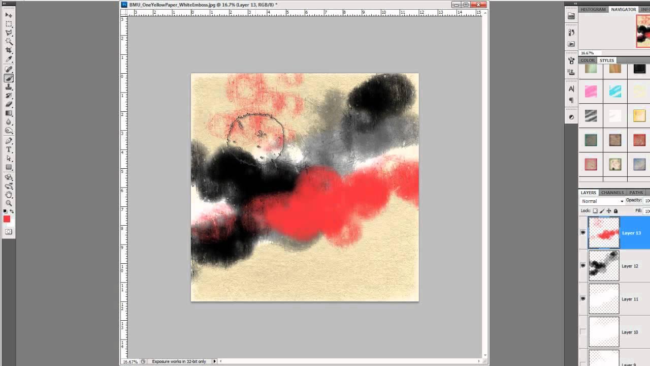 Tutorial   using felt & stitch photoshop actions sahin designs.