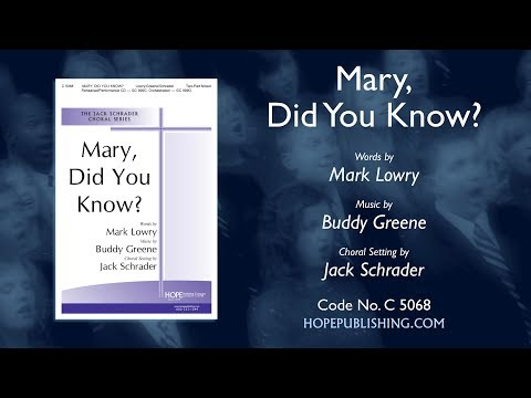 Mary Did You Know - Arr. Jack Schrader