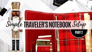 How to do a Simple Setup of a Traveler's Notebook with Printable Inserts and Cut Files Part 2
