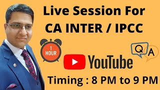 Live Session For CA INTER / IP…