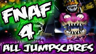 FNAF 4 JUMPSCARES    ALL FNAF 4 Jumpscares    Five Nights at Freddy's 4 Jumpscares