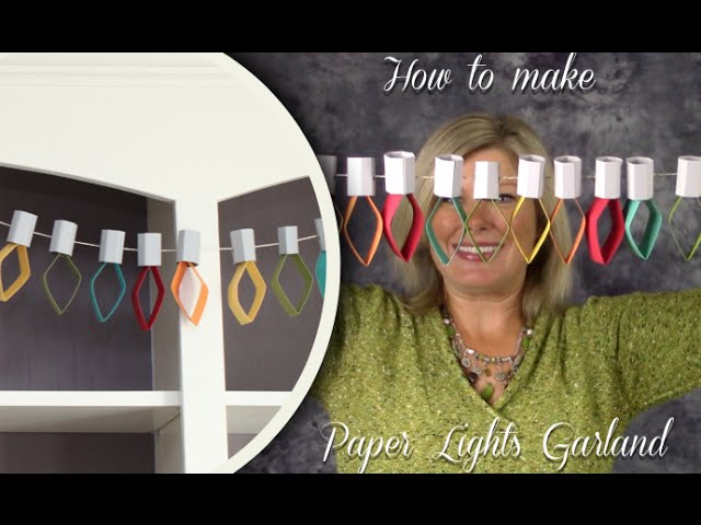 How to Make Paper Lights Garland Party Decorations featuring Stampin Up Tools