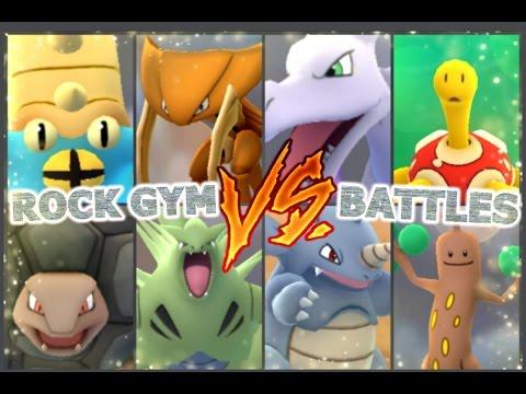 Pokémon GO Gym Battles Level 10 Rock Event Team Fossil Pokémon Tyranitar Golem & more