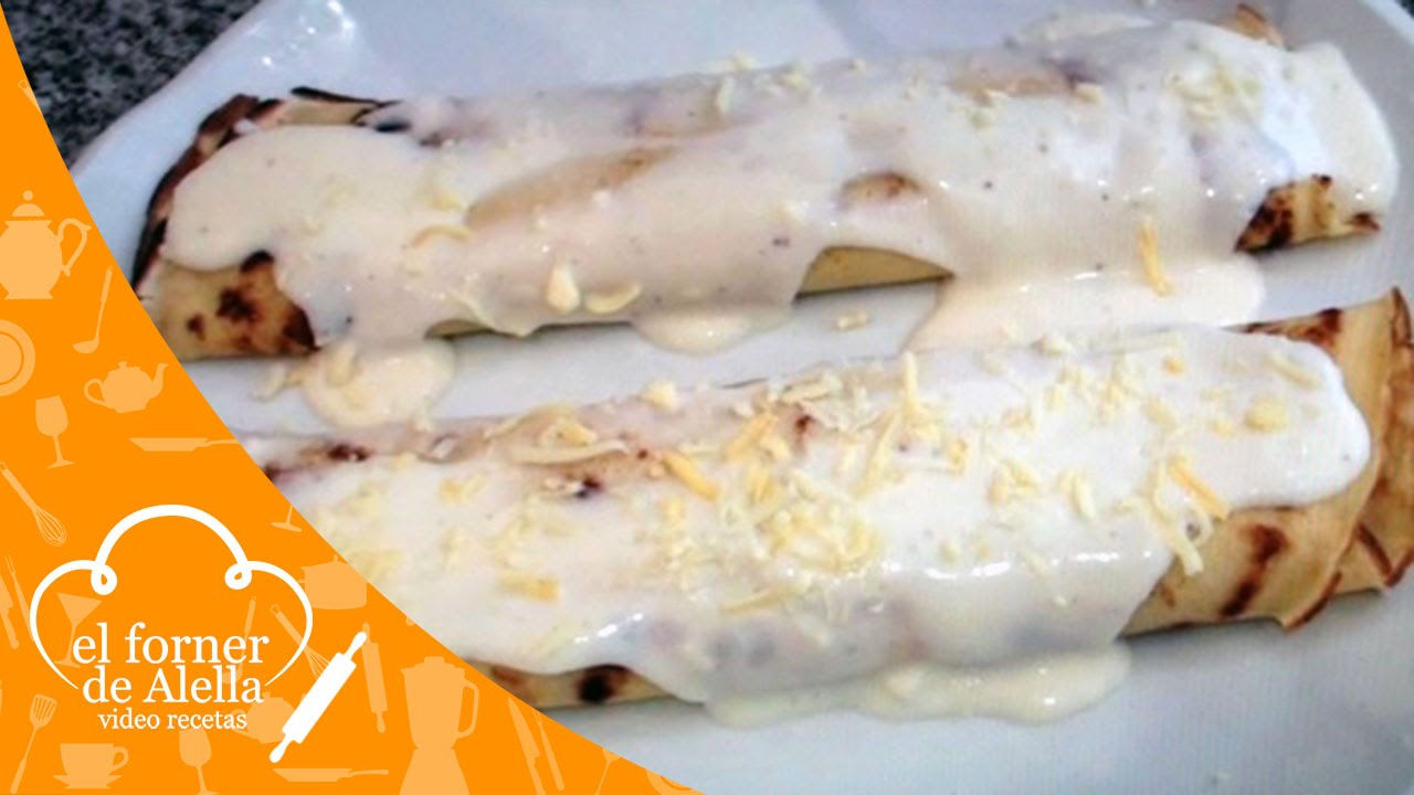 Crepes de gambas champi ones y bacon youtube - Crepes de gambas ...