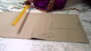 Chudidar pant cutting pattern with measurements in telugu