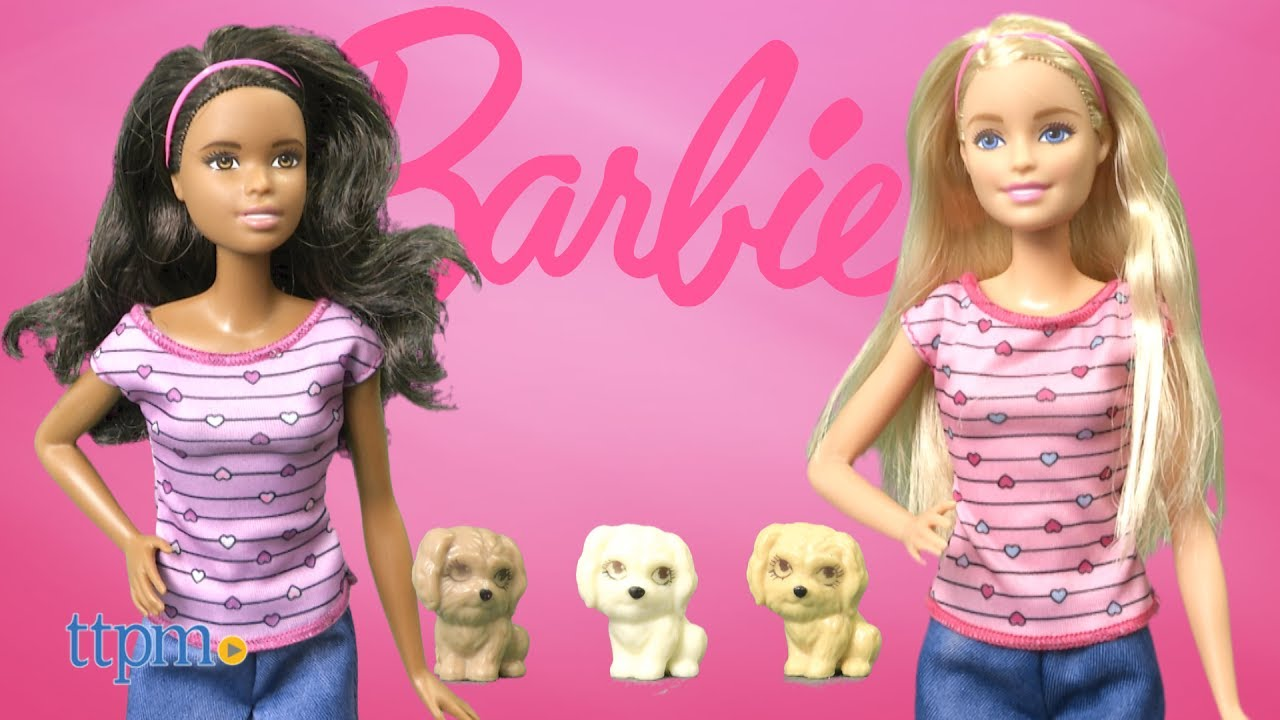 Blonde Pet Dog Gives Birth To Puppies Barbie Newborn Pups Doll /& Pets Playset