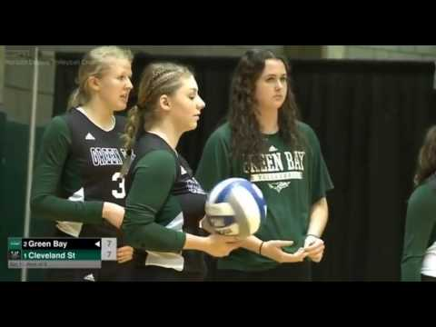 Green Bay vs Cleveland State 2016 Championship Horizon league womens volleyball