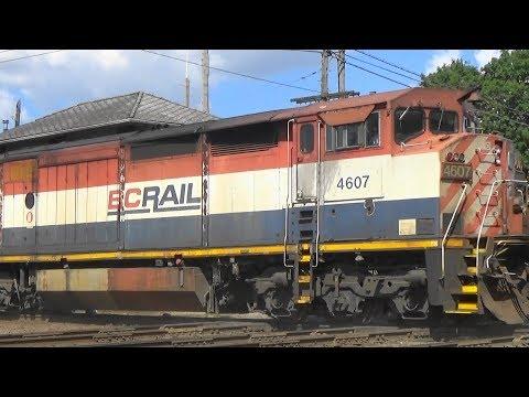 CN 8947 North w/ BC Rail & NS Power, West Chicago, IL