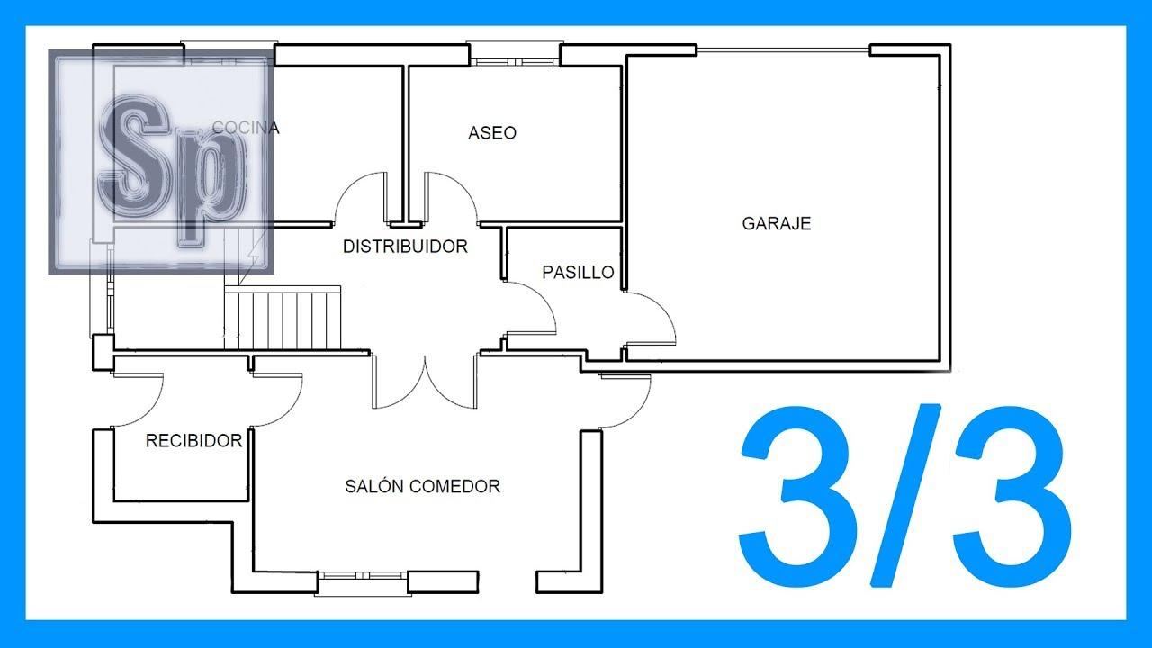 Autocad 3 3 Dibujar El Plano De Una Casa Paso A Paso En