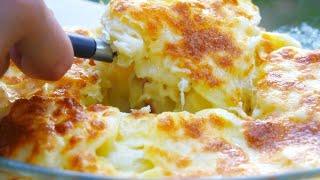 Обалденная картошка в духовке на молоке