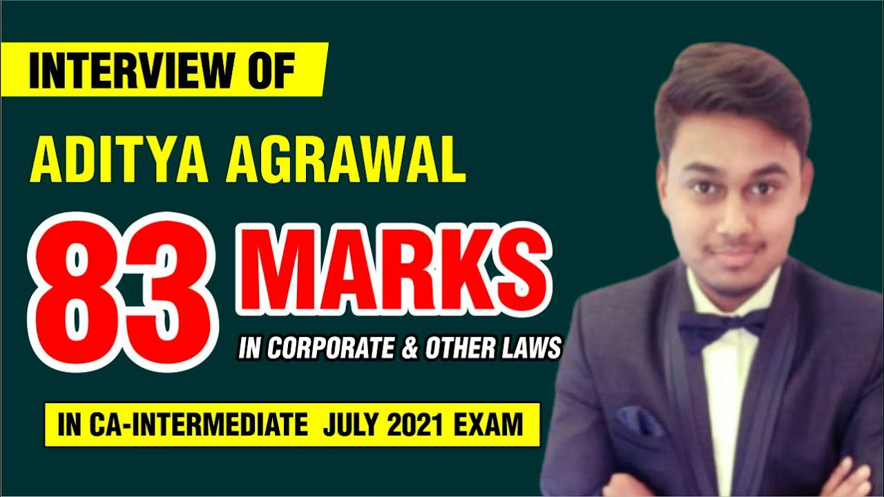 Interview of Aditya Agrawal | 83 Marks in Corporate & Other Laws | By CA. Praveen Golchha