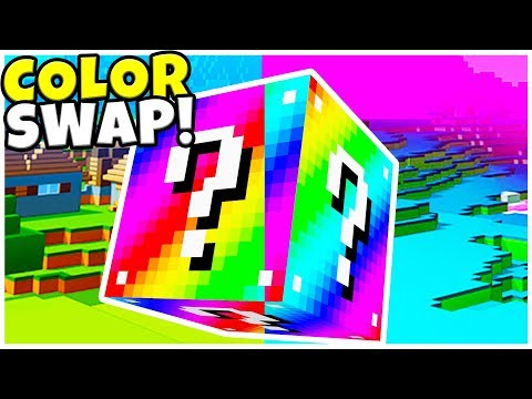 *BRAND NEW* MINECRAFT COLOR BOMB LUCKY BLOCK MOD BATTLE! w/ TEWTIY - MINECRAFT MODDED MINIGAME