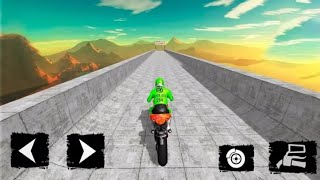 Impossible Bike Race 3D Game #Android GamePlay FHD #Bike Games To Play #Stunt Motor Cycle Wala Game