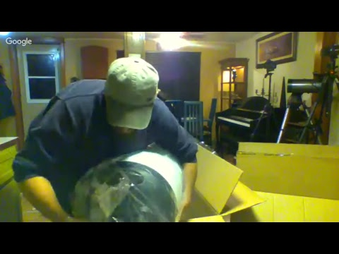 Live Streaming The Unboxing Of My New 14 inch Telescope