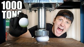 EXPLODING GOLF BALLS WITH HYDRAULIC PRESS!! (HYDRAULIC PRESS vs GOLF BALL)
