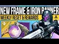 Destiny 2 | NEW WEAPON FRAME & IRON BANNER! Weekly Reset, Weapons, Nightfall & Eververse (25th Dec)
