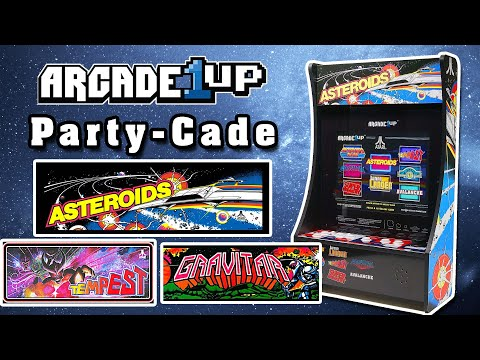 Arcade1up NEW - PARTY-CADE - 8 in 1 Review - Asteroids, Tempest, Gravitar from Steve's Retro Gaming