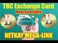 TBC Exchange Card Now Ready For Pick Up