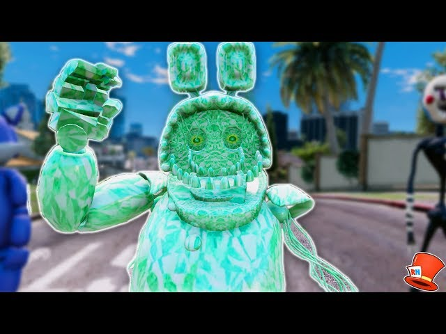 BRAND NEW EMERALD WITHERED BONNIE ANIMATRONIC! (GTA 5 Mods For Kids FNAF RedHatter)