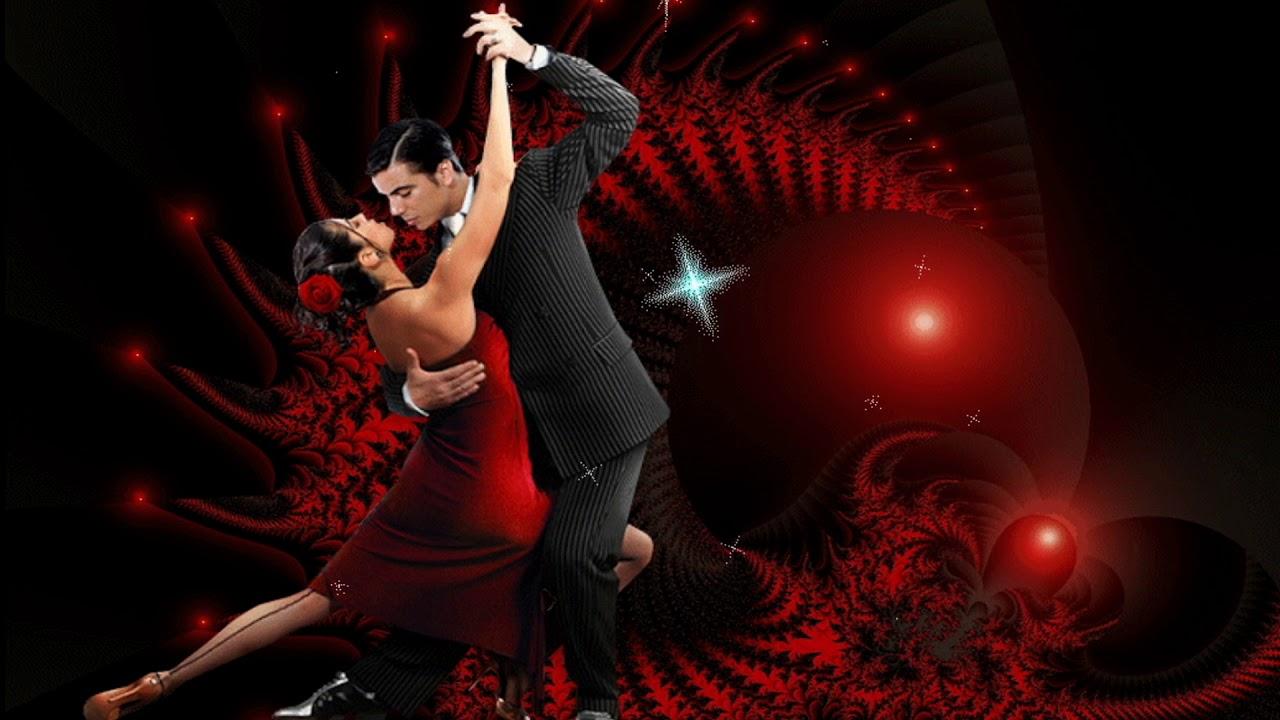Открытка танцующие пары, ночь пришла