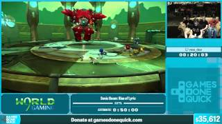 Sonic Boom: Rise of Lyric by mieDax in 36:56 - Summer Games Done Quick 2015 - Part 2