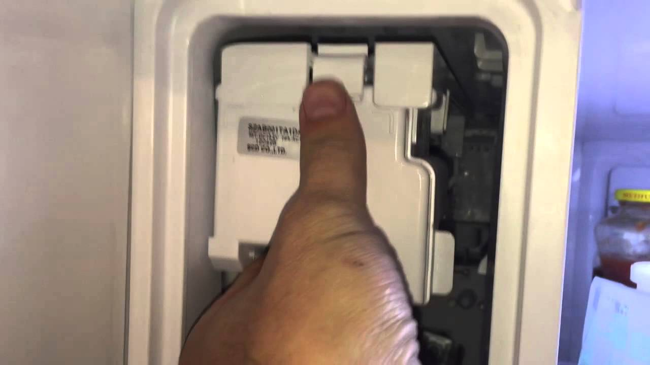 small resolution of replacing the upper ice maker on a samsung rf323ted refrigerator youtube