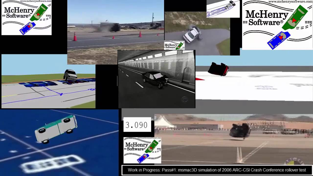 Samples of McHenry Software msmac3D simulations and collision ...