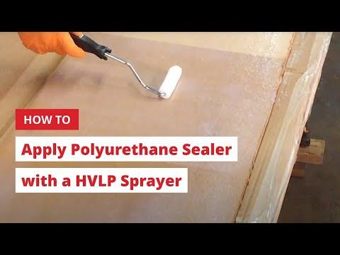How to Apply Polyurethane Sealer with a HVLP Sprayer