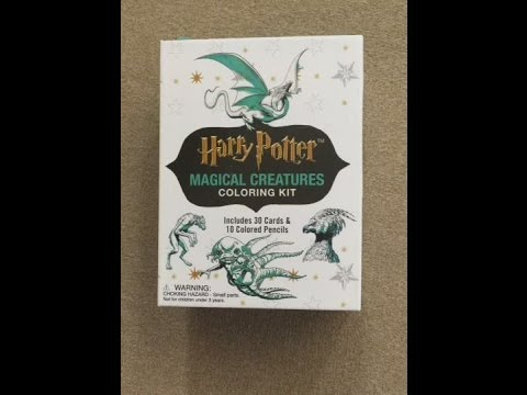Harry Potter Magical Creatures Coloring Kit Flip Through