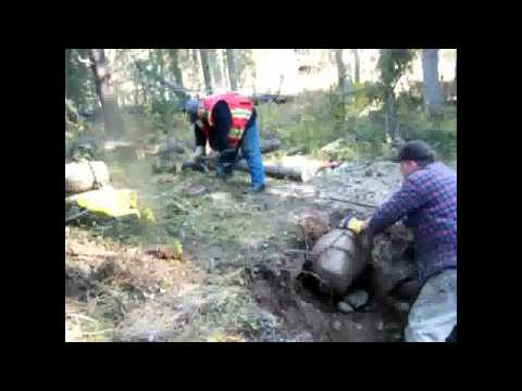 Blue Lake Gold Mining, Digging a Test Shaft, Part 1