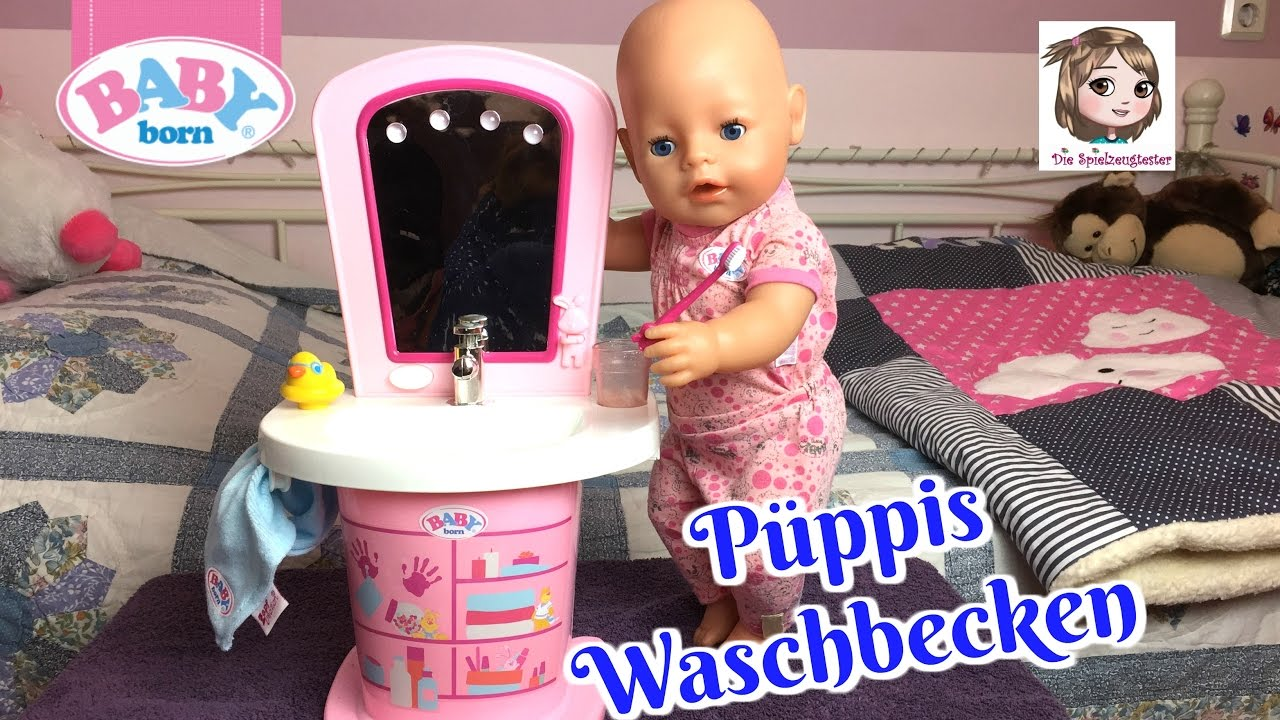 Baby Born Waschtisch Puppis Morgen Routine Am Interaktiven