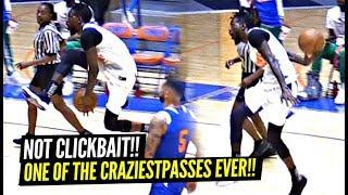 The BEST PASS of 2019!? (NOT CLICKBAIT) Between The Legs BEHIND THE BACK!? Derrick Jones Jr Is CRAZY Video