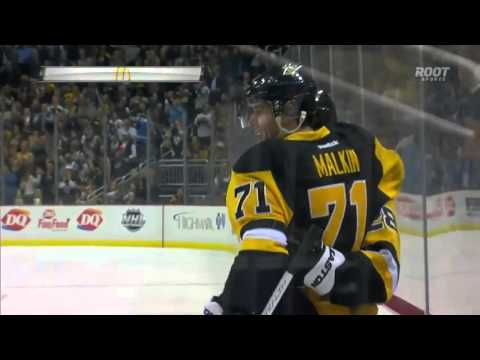 Malkin uses sensational deke to score highlight reel goal | Penguins @ Wild