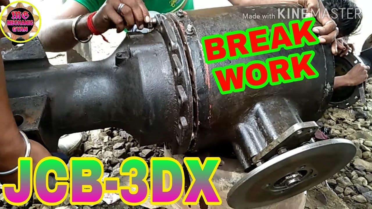 medium resolution of jcb break scystem complete for jcb 3dx rear axle