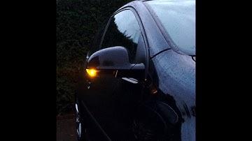 VW Golf 5 Tausch der Spiegelblinker (schwarz) + Feedback