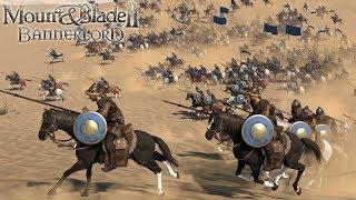 Mount and Blade II Bannderlord Gameplay!  Cavalry Archers!  Cavalry vs Cavalry! (M&B2 Bannerlord)