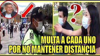 POLICI4 MULTA A JOVENES POR DISTANCIA PERO A SUS ESPALDAS ESTA CARAVANA POLITICA DE CESAR ACUÑA PERU