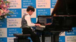 半沢直樹のメインテーマを成田空港のスカイリウムで弾きました。(小学4...