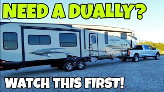 Dually vs Single Rear Wheel Truck for RV towing! Watch this first! Video