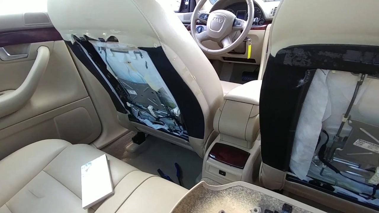 07 audi a4 rear seat repair como reparar panel de el. Black Bedroom Furniture Sets. Home Design Ideas